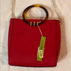 NWT- Gianni Bini, Bangle Handle Red Satchel
